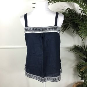 American Eagle Navy Blue Square Neck Tank 16